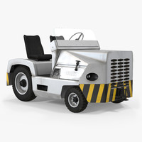 3d diesel aircraft tow tractor model