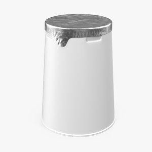 3d generic yogurt packaging