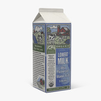 3d half gallon milk carton