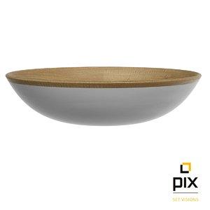 bowl wood 3d obj