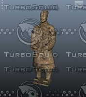 warriors terracotta chinese statue 3d x