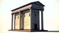 ancient rome building 3d model