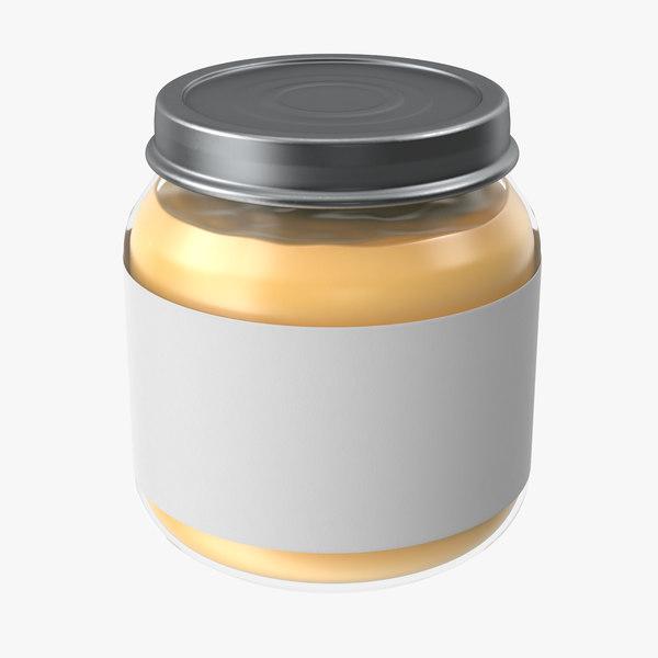 baby food jar 01 3d max