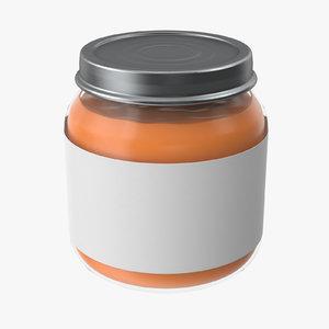 baby food jar 02 3d model