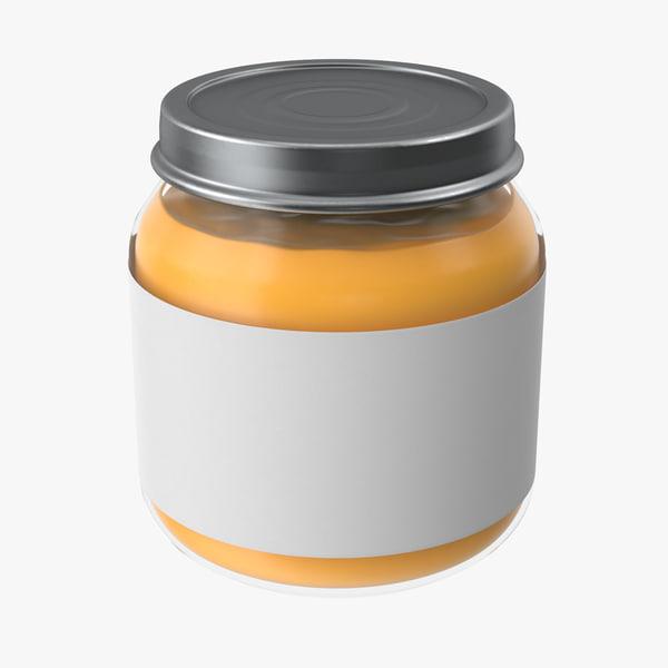 baby food jar 03 3d model