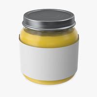 baby food jar 04 3d model