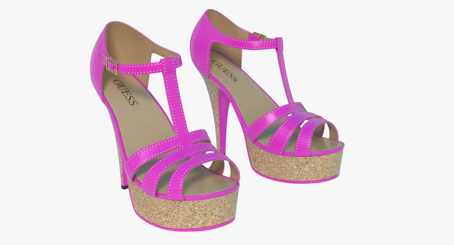 sexy heel shoes 3d obj