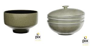3d bowls model