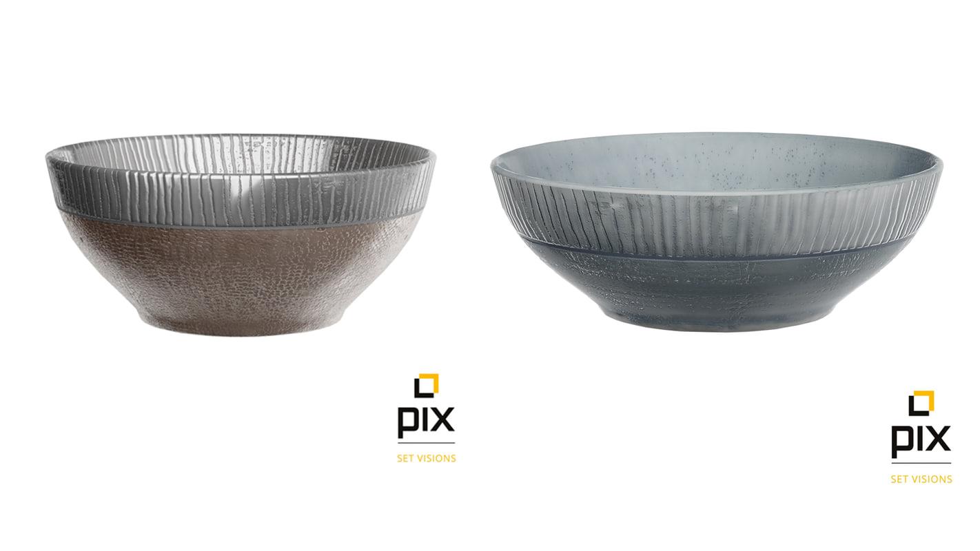 pair bowls 3d model