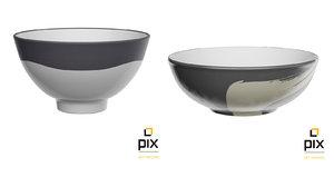 pair bowls 3d ma