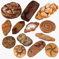 pastry bread 3d model