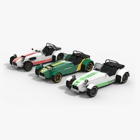caterham cars 3d model