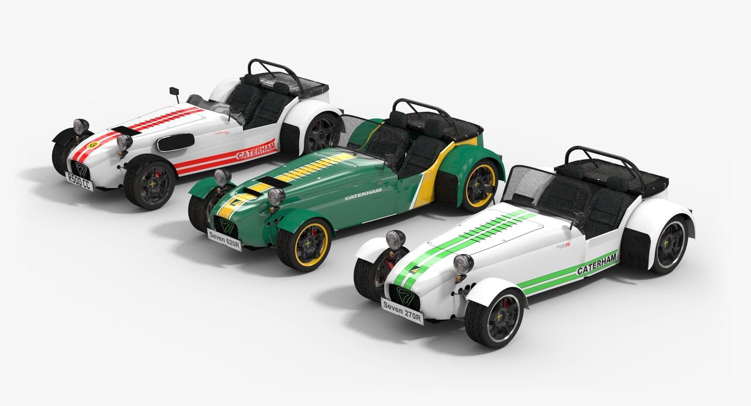 caterham cars 3d model