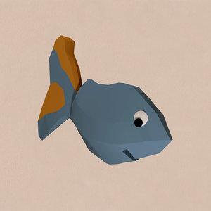 3d cartoon fish model