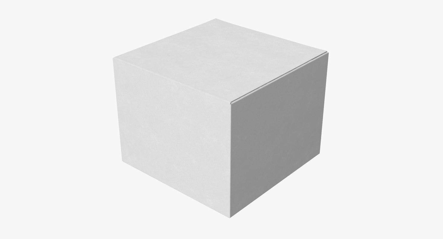 3d model cardboard food box 01