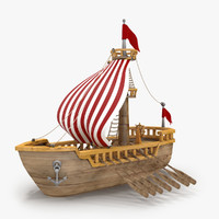 3d max cartoon ship