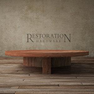 reclaimed russian oak plank 3d model