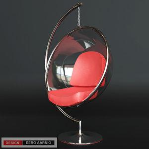 3d model chair eero aarnio