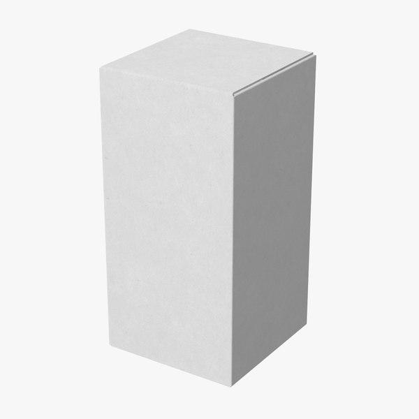 cardboard food box 03 3d model