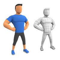 Cartoon Man Fitness