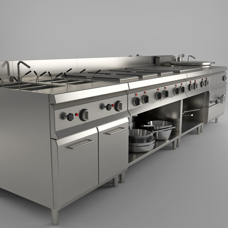 Commercial Kitchen Industrial 3d Max