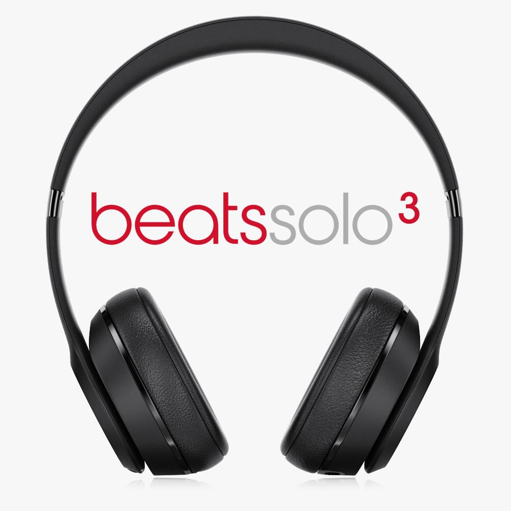 beats solo3 wireless on-ear 3d obj