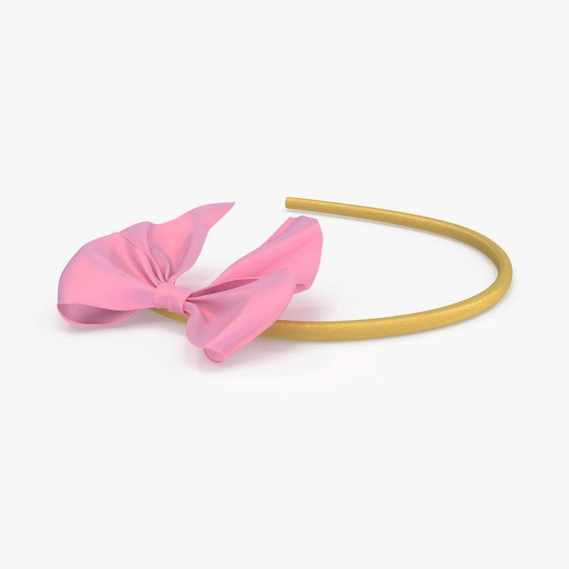 bow headband 03 pink max