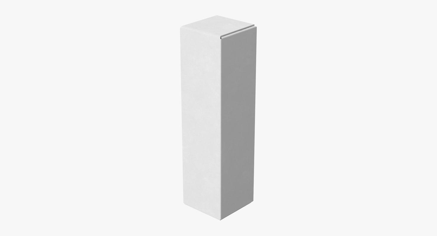 3d model cardboard food box 05