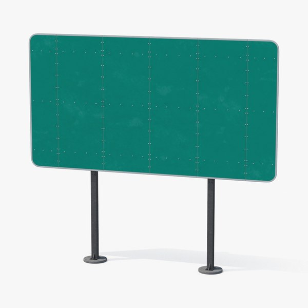 3d highway sign 01 blank
