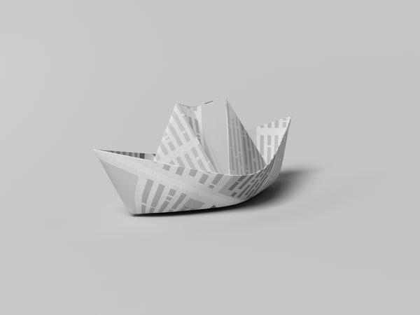 3d paper ship