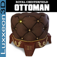 Royal Chesterfield Ottoman