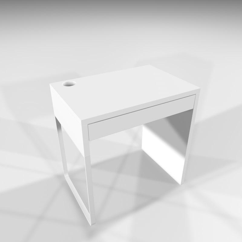 micke desk ikea 3d x