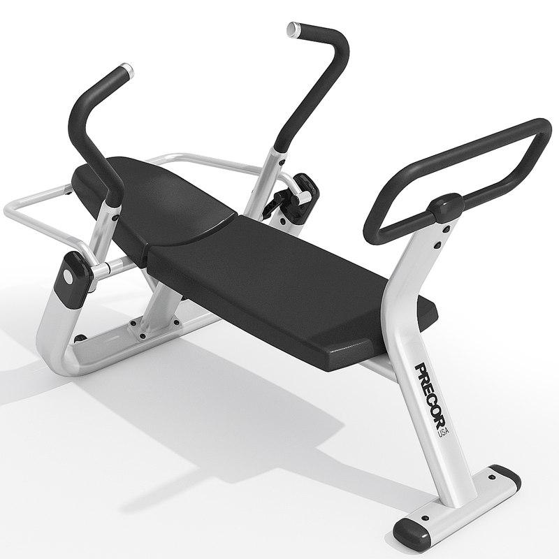 precor abdominal trainer equipment 3d fbx