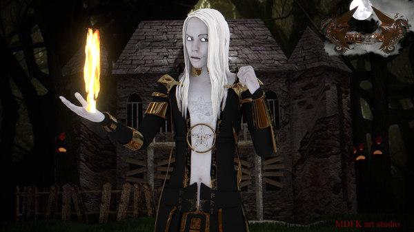 young sorcerer 3d model