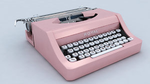 3d typewriter writer type