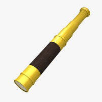 civil war spyglass 3d obj