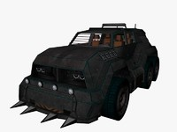 3d futuristic vehicle suv model