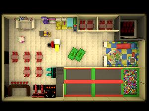 3d model indoor children entertainment center