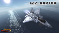 mobile f22 raptor jet fighter 3d model