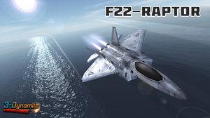 mobile f22 raptor jet fighter 3d model