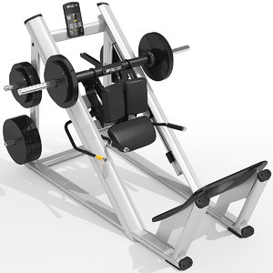 3d precor hack squat model