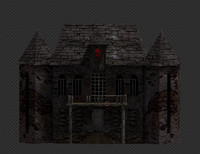 3d spooky old house