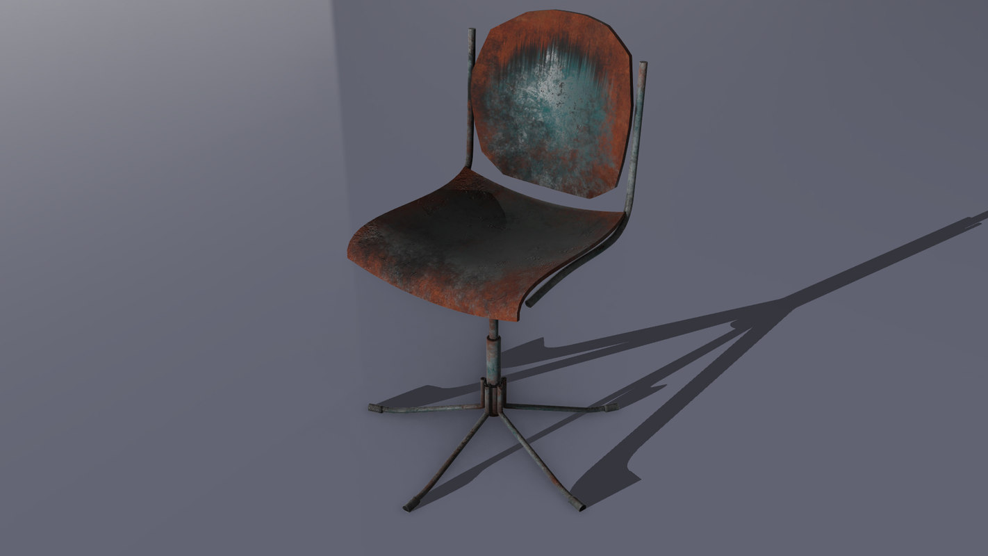 rusted chair obj free