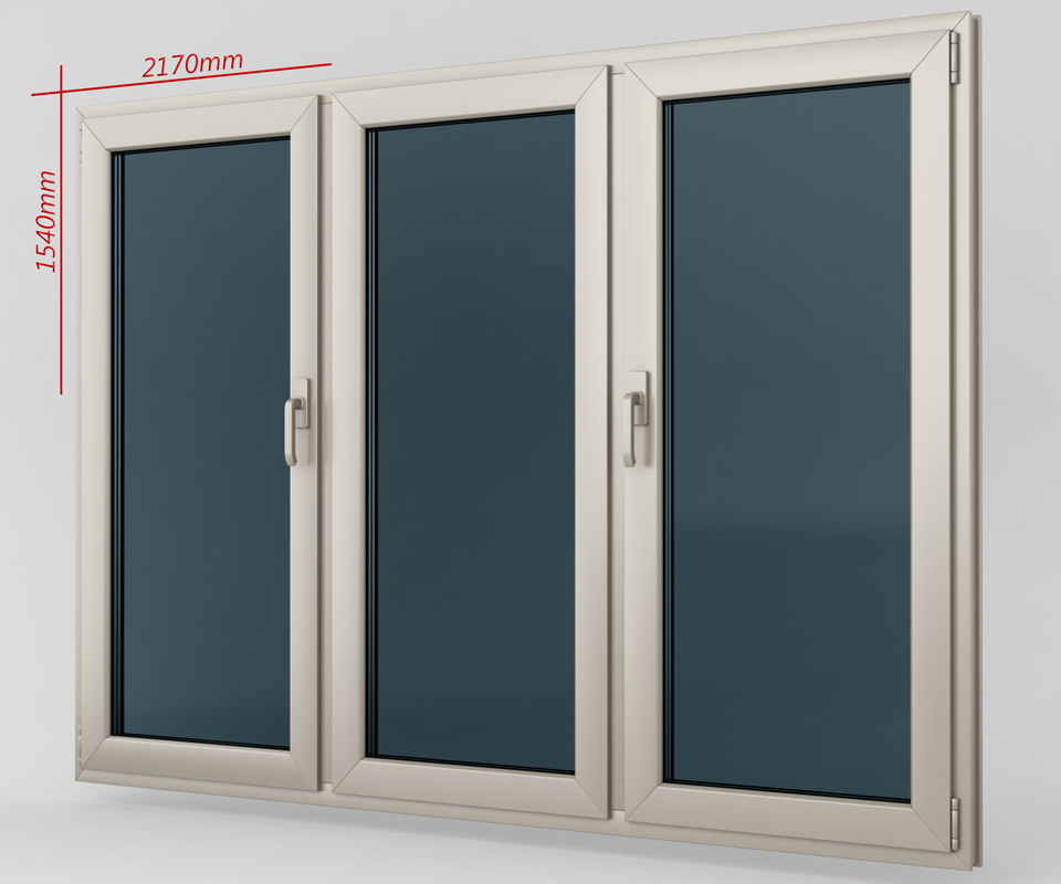 Window casement plastic 3d model for Window plastic