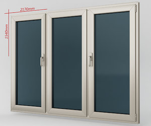 window casement plastic 3d model