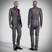 mannequin suit 3d max