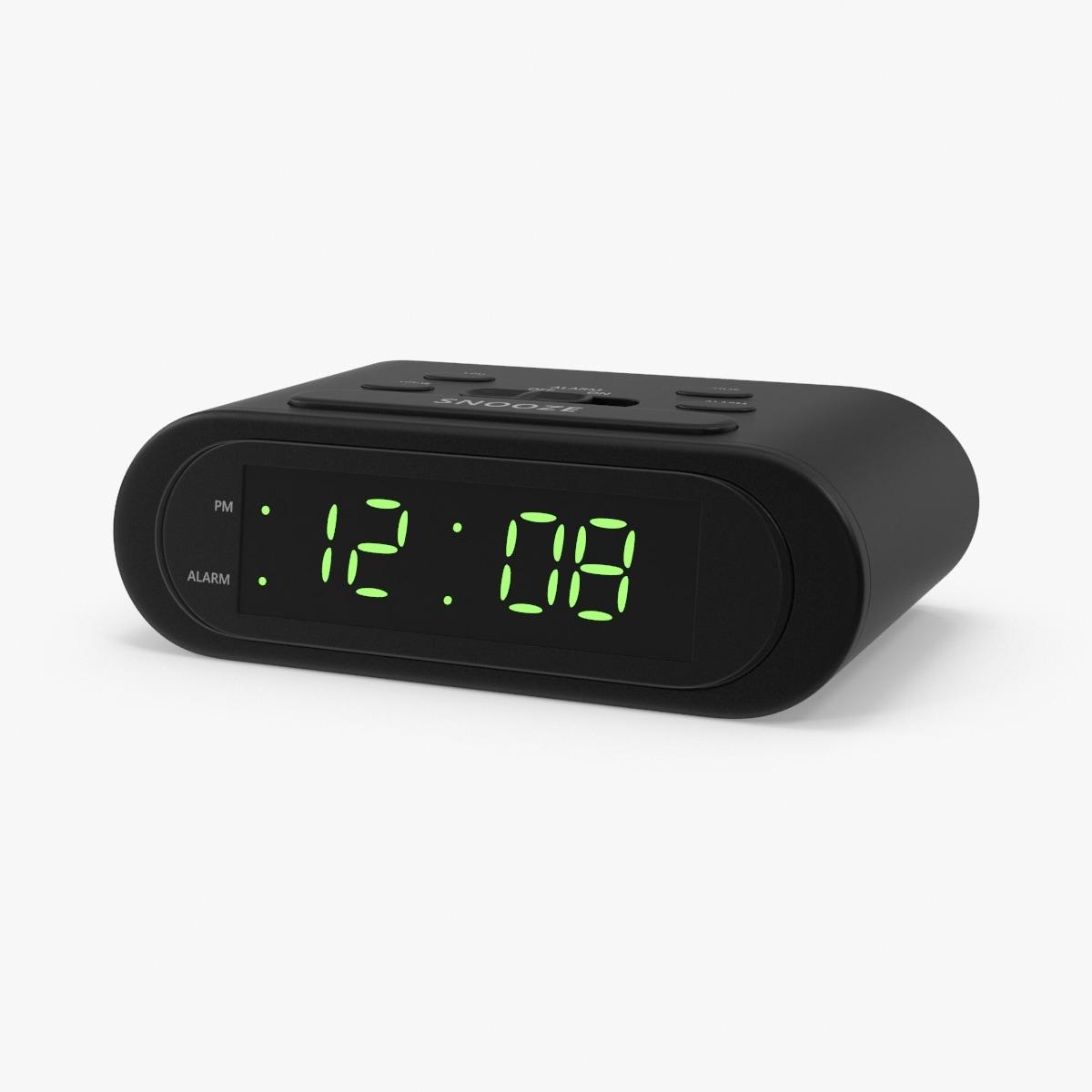 3d battery alarm clock model