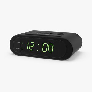 3d battery alarm clock model