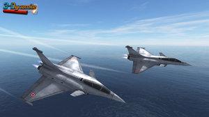 mobile dassault rafale jet fighter 3d model