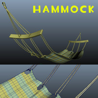 hammock 3d obj